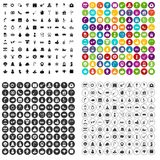 100 holidays icons set vector variant. 100 holidays icons set vector in 4 variant for any web design isolated on white Royalty Free Stock Images