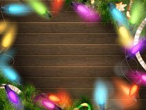 Holidays illustration with Christmas decor. EPS 10 Stock Photography