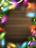 Holidays illustration with Christmas decor. EPS 10 Royalty Free Stock Photography