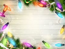 Holidays illustration with Christmas decor. EPS 10 Royalty Free Stock Photo