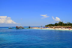 Holidays on Isla Mujeres, Mexico. Isla Mujeres - picturesque tropical island in Caribbean near Cancun Stock Photography
