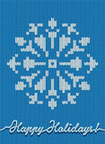 Holidays knitted card or background Royalty Free Stock Photo