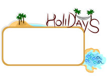 Holidays label Stock Images