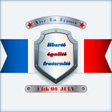 Holidays layout template, for fourteenth July, France Independence Day Royalty Free Stock Photography
