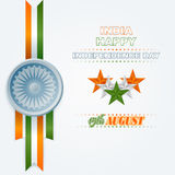Holidays layout template with National Celebration of India Royalty Free Stock Images