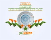 Holidays layout template with National Celebration of India Stock Image