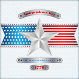 Holidays layout template with silver star colors background for fourth July, American Independence Day Stock Photos