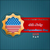 Holidays layout template with stars on national flag for fourth July, American Independence Day Stock Image