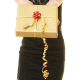 Holidays love happiness concept - girl with gift box Royalty Free Stock Image