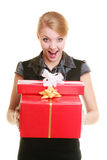 Holidays love happiness concept - girl with gift boxes Royalty Free Stock Images