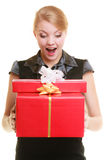 Holidays love happiness concept - girl with gift boxes Stock Photo