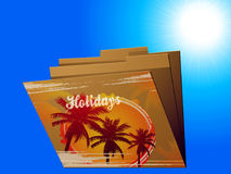 Holidays manila folder with tropical print Royalty Free Stock Photos