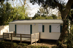 Holidays in a mobile home. Mobile home for holidays,France Stock Photo