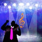 Holidays musical background Royalty Free Stock Photo