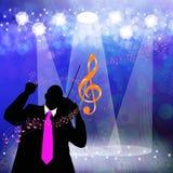 Holidays musical background Royalty Free Stock Photo