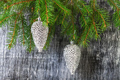 Holidays  New Year's and Christmas fir-tree toys Stock Photo