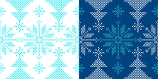 Holidays ornament pattern with snow and xmas tree Royalty Free Stock Image