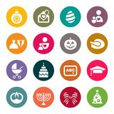 Holidays and party icons Royalty Free Stock Photography