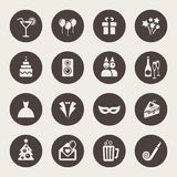 Holidays and party icons Royalty Free Stock Image