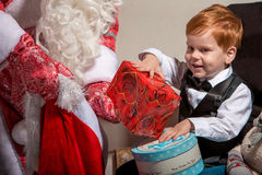 Holidays and people concept - smiling little boy Royalty Free Stock Image