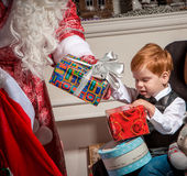 Holidays and people concept - smiling little boy Royalty Free Stock Photo