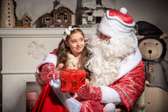 Holidays and people concept - smiling little girl Stock Photo