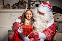 Holidays and people concept - smiling little girl Royalty Free Stock Photography