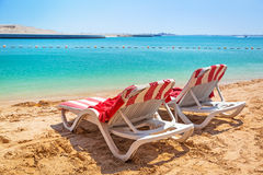 Holidays at the Persian Gulf in Abu Dhabi Royalty Free Stock Images