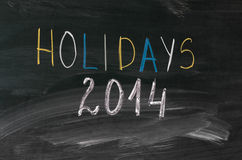 Holidays 2014 Royalty Free Stock Photography