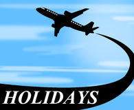 Holidays Plane Represents Go On Leave And Air Stock Photos
