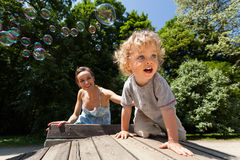 Holidays on the playground Stock Image
