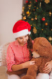 Holidays, presents, christmas, childhood and Stock Photos