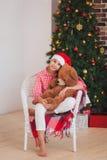 Holidays, presents, christmas, childhood and Royalty Free Stock Photo