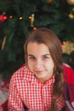 Holidays, presents, christmas, childhood and Royalty Free Stock Images