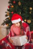 Holidays, presents, christmas, childhood and Royalty Free Stock Photography