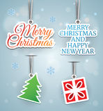 Holidays promo elements Stock Image