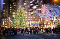Holidays Rockefeller Center Royalty Free Stock Photography