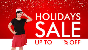 Holidays Sale background design Royalty Free Stock Photography