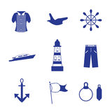 Holidays at sea. Holidays on a ship sailing vector illustration