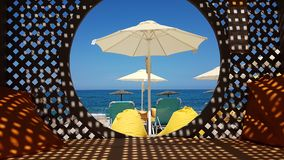 Holidays by the sea beach  in Preveza Greece Stock Photography