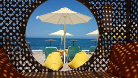 Holidays by the sea beach  in Preveza Greece Stock Photo