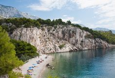 Holidays at sea. Croatia Royalty Free Stock Photography