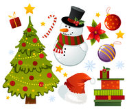 Holidays set. A lot of cute christmas stuff Royalty Free Stock Images
