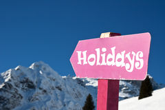 Holidays sign Royalty Free Stock Photo