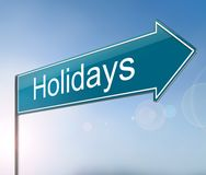 Holidays sign concept. Royalty Free Stock Photos