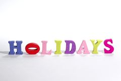 Holidays sign Stock Image