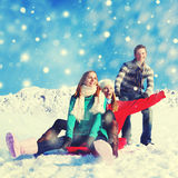 Holidays in The Snow Happiness Fun Cheerful Concept Royalty Free Stock Image