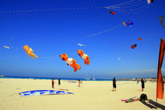 Holidays, Summer Beach Kite Competition, Sicily Stock Photos