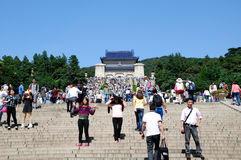 Holidays in the sun yat-sen's mausoleum scenic spot Royalty Free Stock Images