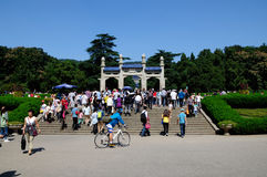 Holidays in the sun yat-sen's mausoleum scenic spot Royalty Free Stock Photography